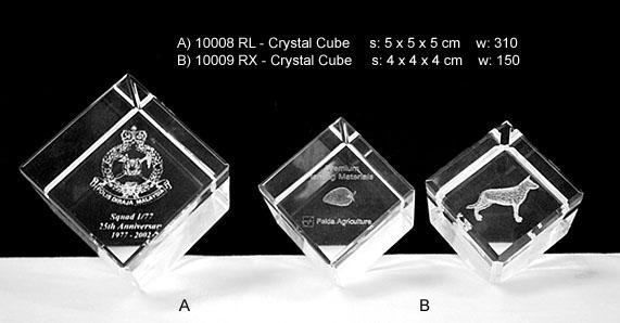 G10008 RL 10009 RX Crystal Cube